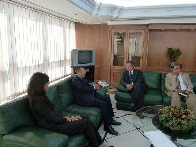Youssef Amrani with Tunisian Minister for Industry and Technology, M. Abdelaziz Rassaa