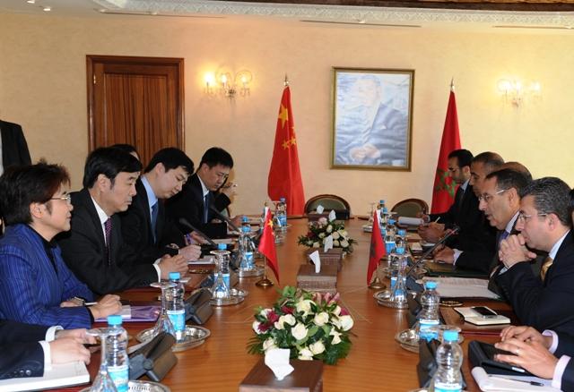 Entretiens de M. Amrani avec le Vice-Ministre des Affaires étrangères de la République populaire de Chine, Zhai Jun.