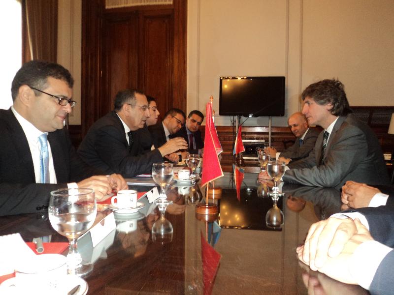 Entretien de M. Amrani avec le Vice-Président argentin, M. Amado Boudou.