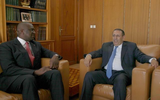 M. Amrani s'entretient avec le Ministre d'Etat, Ministre de l'Intérieur de la République de Côte d'Ivoire