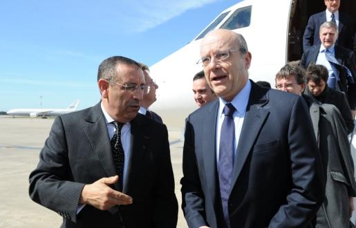 Arrivée à Rabat de M. Alain Juppé