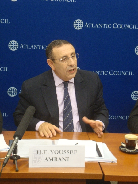 M.Amrani au siège du think tank US « The Atlantic Council »