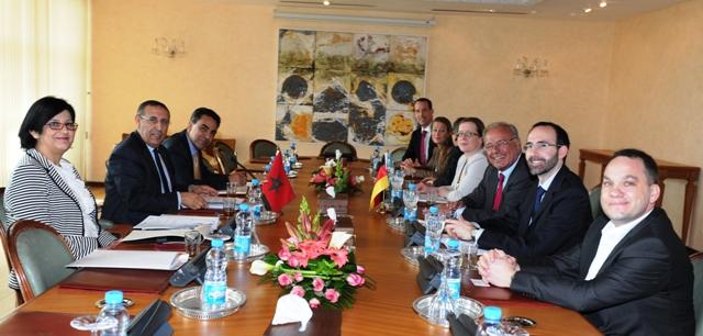 Entretiens de M. le Ministre Délégué avec le Vice-président de l\'Association d\'amitié germano-arabe,M. Randolf Rodenstock.