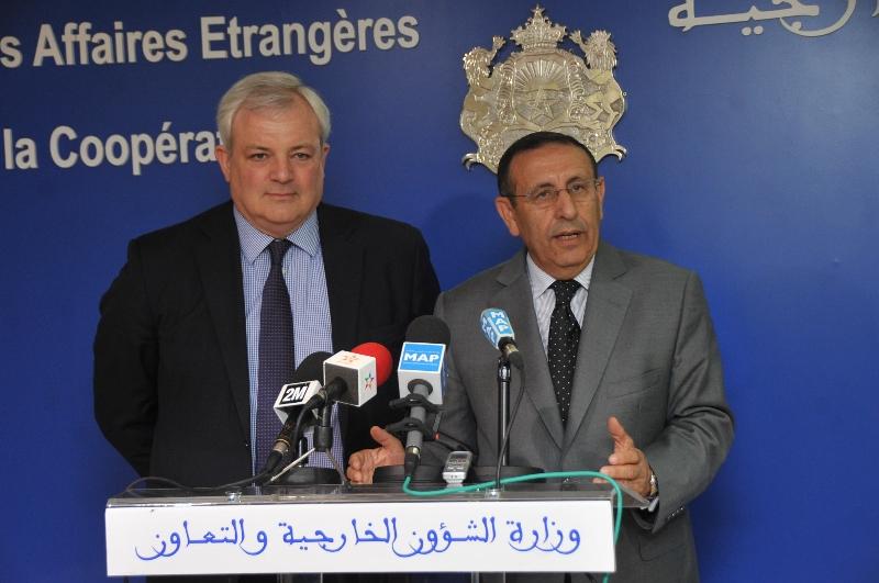 Entretien de M.Amrani avec l\'envoyé spécial du Premier Ministre britannique pour le Sahel, M.Stephan O\'Brien.