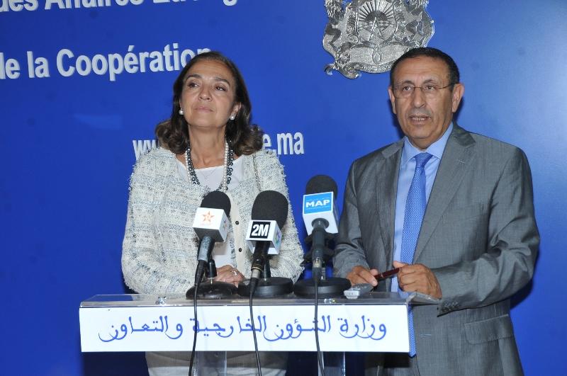 M. Youssef AMRANI s'entretient avec le Secrétaire d\'Etat à la Recherche, au Développement et à l\'Innovation de l'Espagne, Mme Carmen Vela Olmo