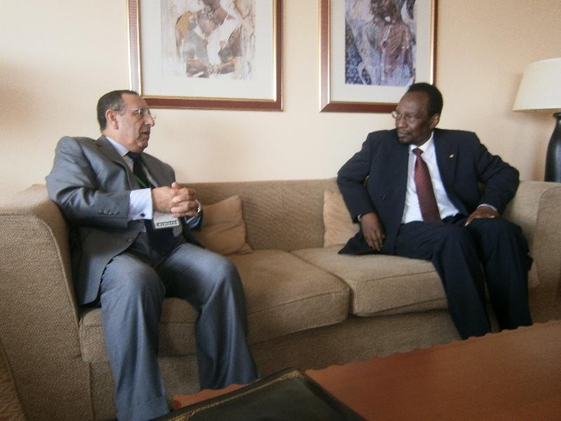M. Amrani s\'entretient avec le Président de la République de Guinée, Alpha Condé.