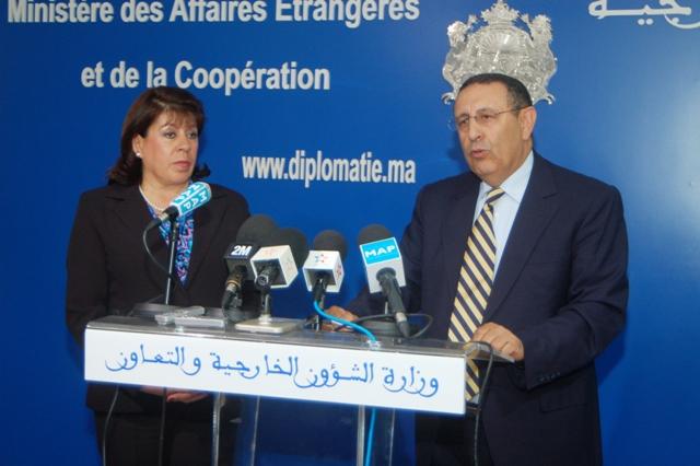 Entretien de M. Amrani avec Mme Myriam Paredes Aguirres, Présidente de la Commission des Relations Extérieures au Sénat colombien.