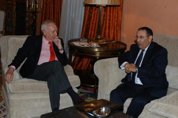 M. Amrani s\'entretient avec le Ministre espagnol des Affaires Etrangères, José Manuel García-Margallo.
