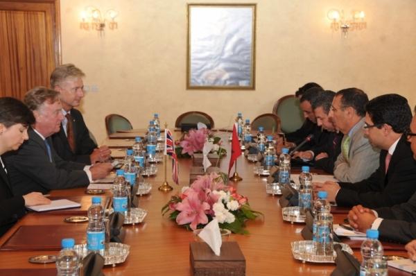 Entretien de Monsieur Amrani avec le Président de la Commission des Affaires Etrangères du Parlement Britannique, M. Richard  Ottaway.