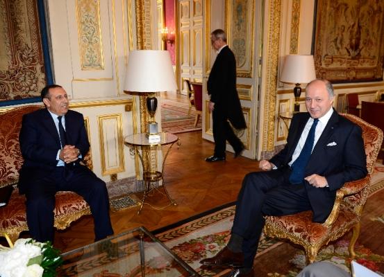 M. Amrani s\'entretient avec avec le chef de la diplomatie française, M.Laurent Fabius.
