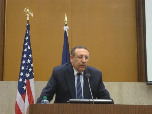 M. Amrani au siège du département d\'Etat à Washington