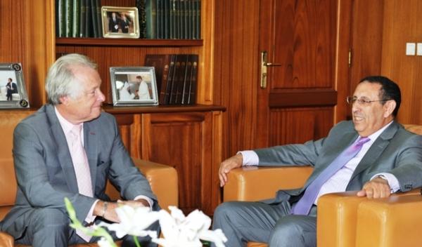 M. Amrani reçoit une délégation française de la Confédération Générale des Petites et Moyennes Entreprises