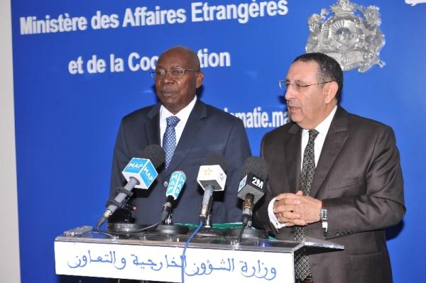 Entretien de M. Youssef Amrani avec le Président de l'Assemblée nationale malienne par intérim Monsieur Younoussi Touré .