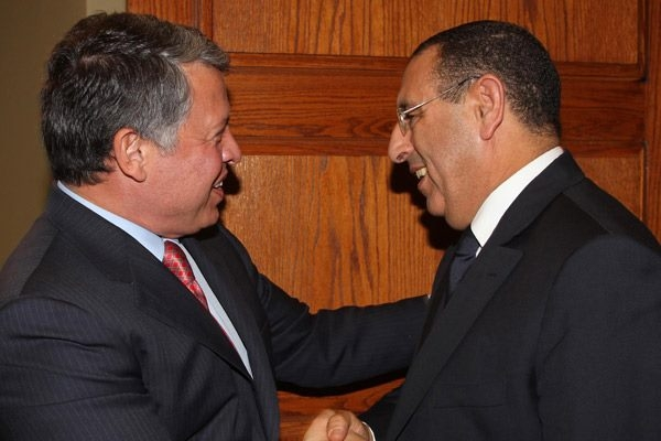 king Abdullah II of Jordan receives the UFM Secretary General
