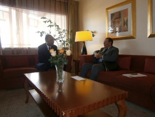 M.Amrani s\'entretient avec le Président de la République du Niger, Mahamadou Issoufou