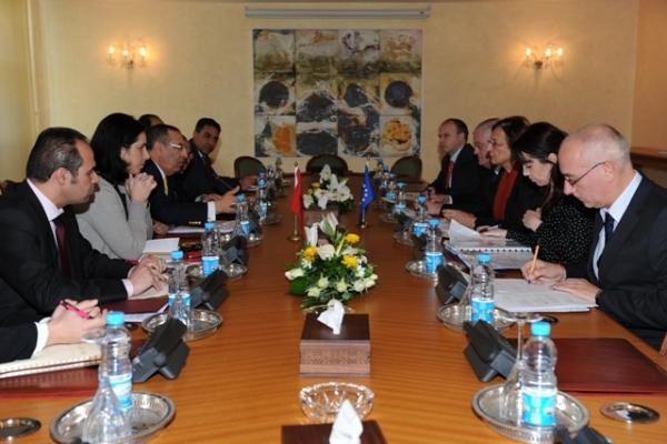 Entretiens de M. Amrani avec le Directeur Général des Programmes au Conseil de l'Europe, Gabriella Battaini Dragoni.