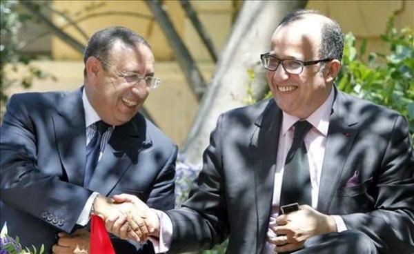 Youssef Amrani avec Monsieur Taïeb Fassi-Fihri