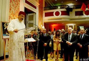 M.Youssef Amrani à l\'occasion  de la Fête du trône – ambassade du Maroc à Paris