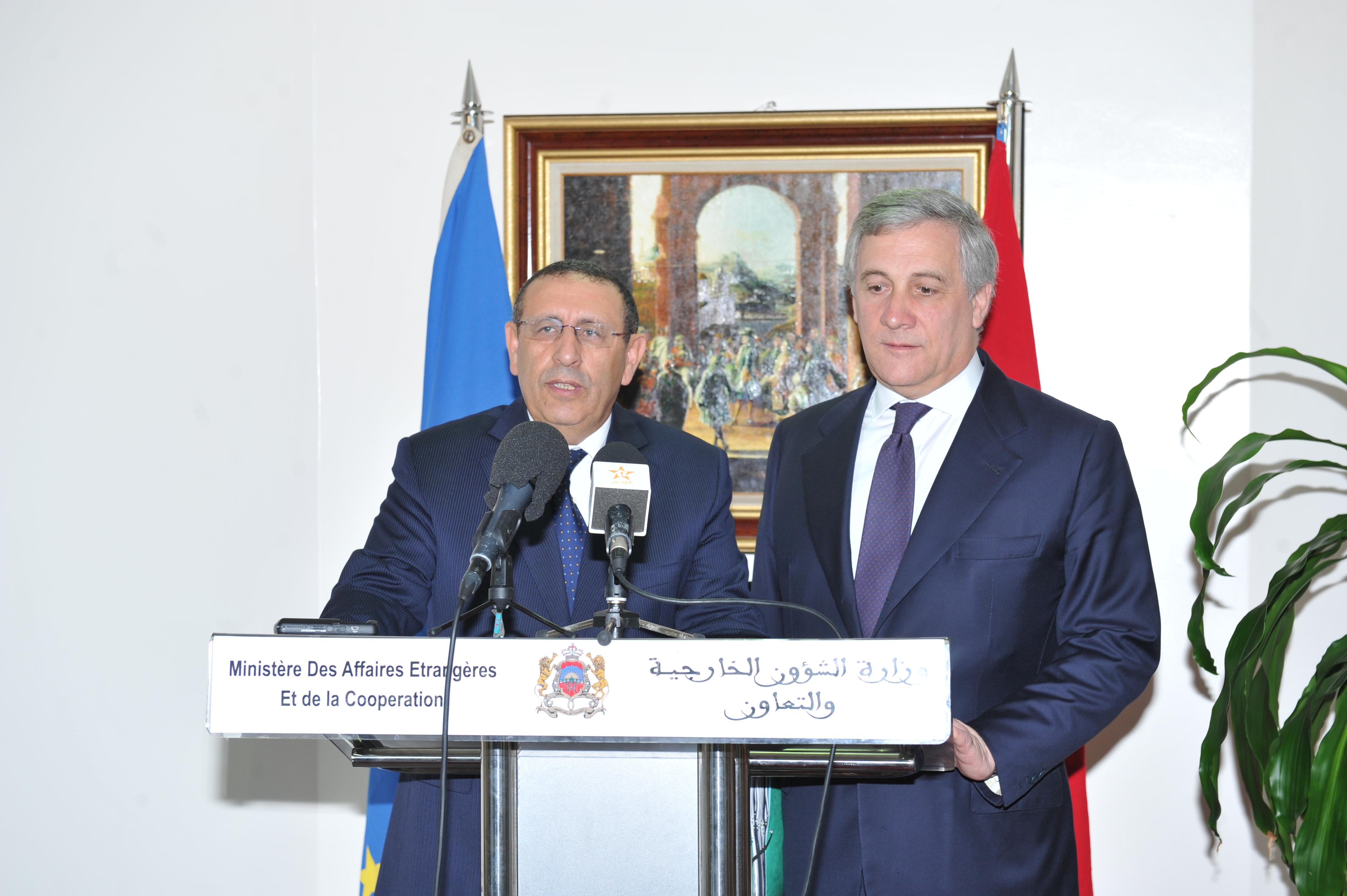 Intervention de Monsieur le Ministre Délégué à l'occasion de la visite de Monsieur A. TAJANI